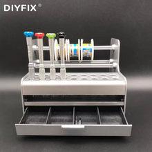 DIYFIX PC konserwacja skrzynka komponentów Mainframe przechowywanie części Box Repair Tool śrubokręt pincety regał magazynowy odbiornik biurkowy