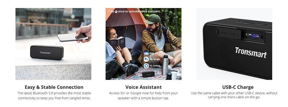 Tronsmart T2 Plus Bluetooth 5.0 Speaker 20W Portable Speaker 24H Column IPX7 Soundbar with TWS,Voice Assistant,Micro SD (6)