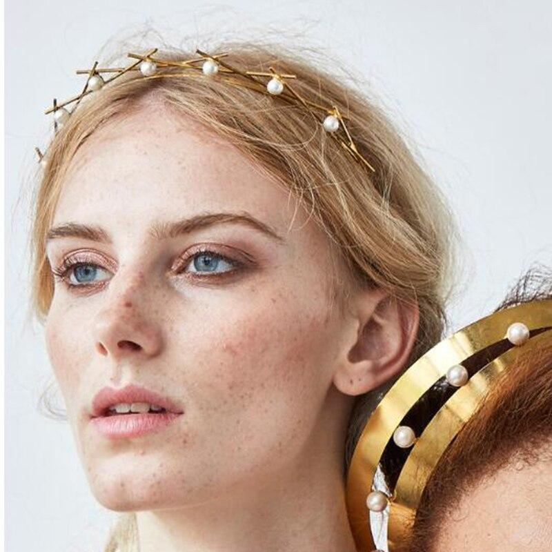 Beautiful Pearl Rhinestone Alice band Crystal Headband Hairband for girl women