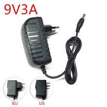Dc 9 v volt fonte de alimentação adaptador 9 v 1a 2a 3a 5a comutação ac 220v para 9 v dc adaptador de alimentação dc plugue da ue para lâmpada de luz led