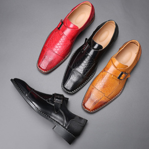 Image 4 - 2020 Mens Dress Shoes Buckle Business Skyle Oxfords Formal Leather Shoes Elegant Wedding Loafers Big Size