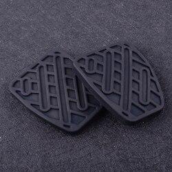 CITALL 2 sztuk nadające się do Nissan Qashqai 2007 2008 2009 2010 2011 2012-2016 46531JD00A czarne gumowe hamulca i sprzęgła nakładka na pedał obejmuje