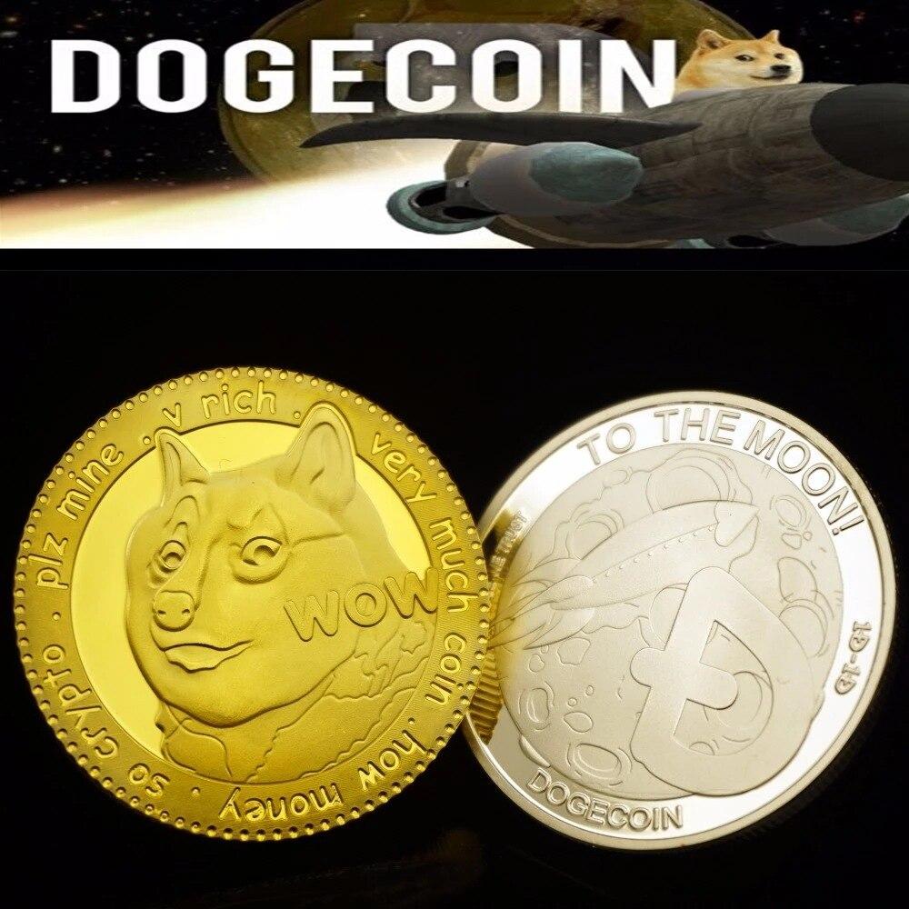 New Limited Collection Edition Dogecoin Lunar Dogecoin Virtual Commemorative Coin Digital Virtual Currency Lunar Animal Lucky Ba