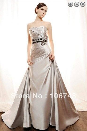 2016 Seconds Kill Vestidos De Novia Gown Lustrous Satin Designer Long Plus Cream Colored Removable Belt Sashes Wedding Dresses
