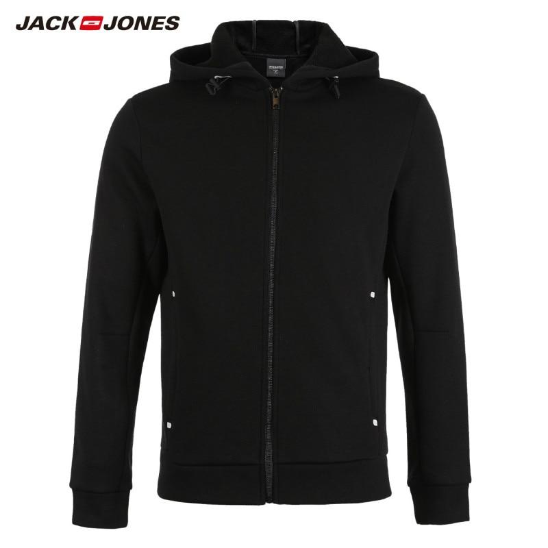 JackJones Men's Cardigan Hooded Sweatshirt Fleece Jacket Men's Hoodies 2019 Brand New Fashion Menswear 218333524