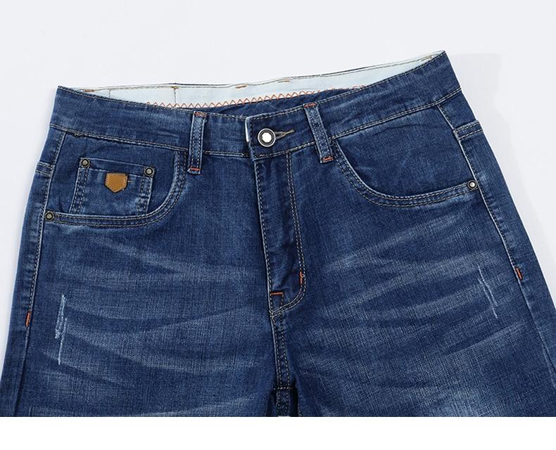 KSTUN Jeans Men Summer 2020 Blue Slim Straight Denim Pants Casual Fashion Men's Trousers Full Length Cowboys Male Jeans Hombre 13