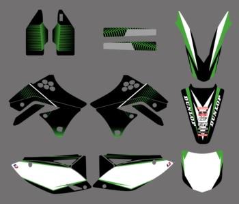 NICECNC 1 Set Motorcycle Team Background Stickers Decal Kit For Kawasaki KX250F KX 250F KXF250 KXF 250 2009 2010 2011 2012