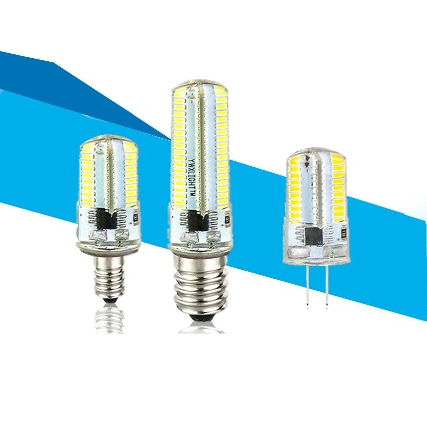 2020 New Led Light G9 G4 Led Bulb E11 E12 14 E17 G8 BA15 Dimmable Lamps 110V 220V Spotlight Bulbs 3014 SMD 64 Leds Sillcone Body