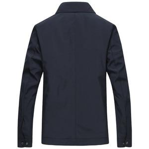 Image 3 - 봄 가을 망 패션 대표팀 재킷 품질 단색 검정 남성 윈드 브레이커 고품질 브랜드 남성 의류 크기 M 3XL