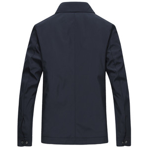 Image 3 - Spring Autumn Mens Fashion Varsity Jacket Quality Solid Black Male Windbreakers High Quality Brand Men Clothing Size M 3XL