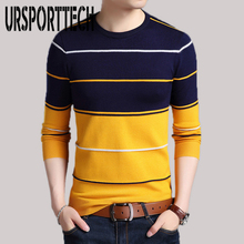 2019 New Fashion Brand Sweater Mens Pullover Striped Slim Fit Jumpers Knitted Woolen Autumn Winter Casual Sweaters Men Clothes new fashion brand sweater for mens cardigan slim fit jumpers knitwear warm autumn korean style casual clothing men