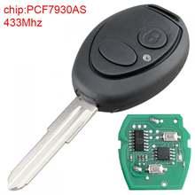 1 шт Черный Прочный 433 МГц 2 кнопки Замена Автомобильный Брелок