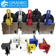 Granbo Виниловая пластинка Ультразвуковой очиститель 6.5L 180 Вт с кронштейном из алюминиевого сплава для EP дисков 6 об/мин Мотор LP CD игольчатые дорожки
