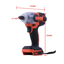 цена на 18V 520N.m Li-Ion Cordless Impact Wrench Driver Torque 1/2'' Socket Electric Wrench Replacement For Makita Battery Household Car