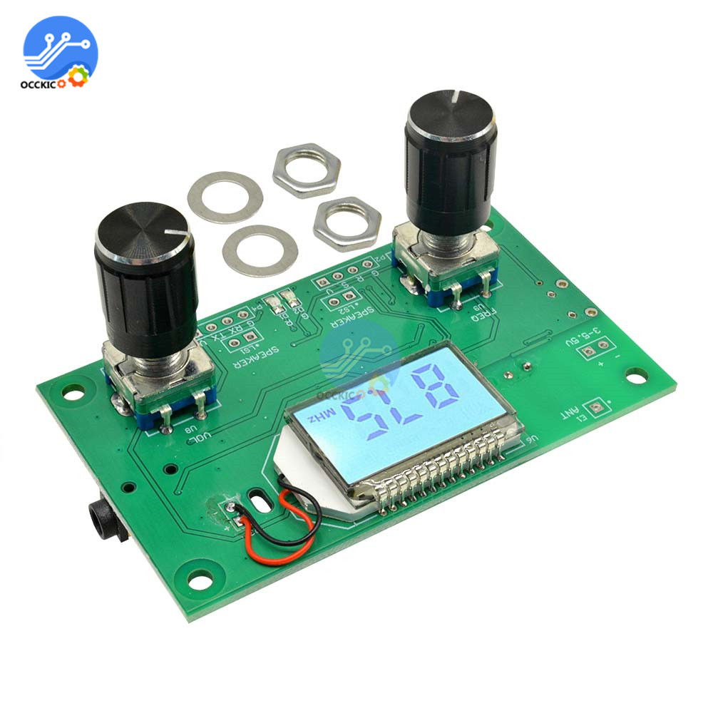 FM Radio Receiver Module 87-108MHz Frequency Modulation Stereo Receiving Board With LCD Digital Display 3-5V DSP PLL image