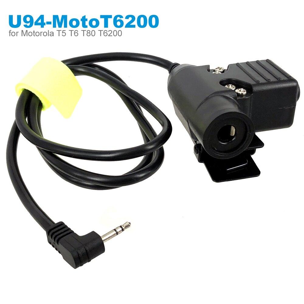 Military Z Tactical PTT For Motorola TLKR T80 T60 T5 T7 T5410 T5428 T6200 FR50 XTR446 Radio   Walkie Talkie Headset Headphone