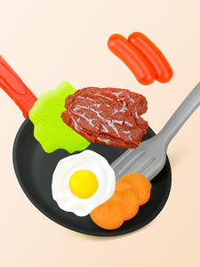 Girl Toy Food-Toys Simulation-Kitchenware Play-Set Bread Steak-Vegetable Omelette Children