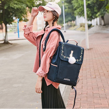 2020 Women's Backpacks Cute College Student Schoolbags College Style Oxford Cloth Large Capacity Backpack oxford cloth waterproof unisex large capacity student backpack simple casual backpack college style gray