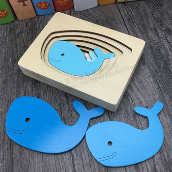 цена Kids Wooden Toys For Children Animal Carton 3D Puzzle Multilayer Jigsaw Puzzles Baby Toys Child Early Educational Aids онлайн в 2017 году