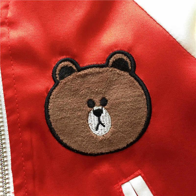 Tonytaobaby الخريف الملابس نمط جديد الطفل الدب زي بيسبول الزي طفلة معطف طفل صبي سترة