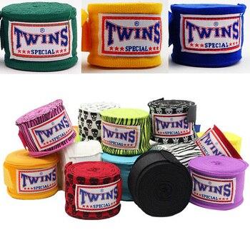 цена на 5M One Pair/pack TWINS Boxing Hand Wraps MMA Kick Boxing Handwraps for Training 5cm Width Bandages Muay Thai T