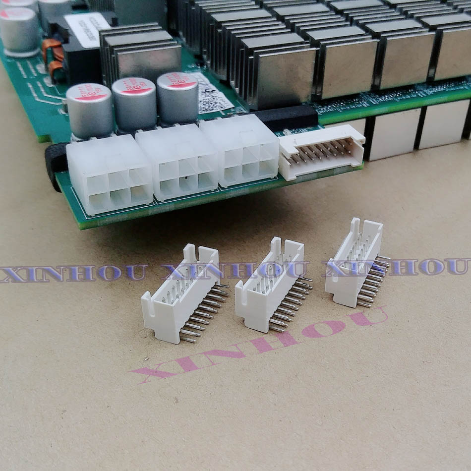 25Pcs Miner Connector 2x9P Male Socket Curved Needle Double Row Buckle Is Suitable For Asic Miner Antminer S9 S9K S9j S17 L3 Z11