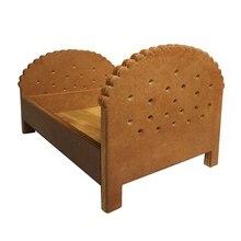 Newborn Detachable Posing Mini Bed Baby Photo Shooting Handmade Wood Cookie Crib Q9QB
