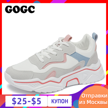 GOGC 2020, zapatos de mujer de primavera, zapatos de plataforma para mujer, zapatillas gruesas, zapatillas, zapatos informales para mujer, zapatillas para mujer G6802