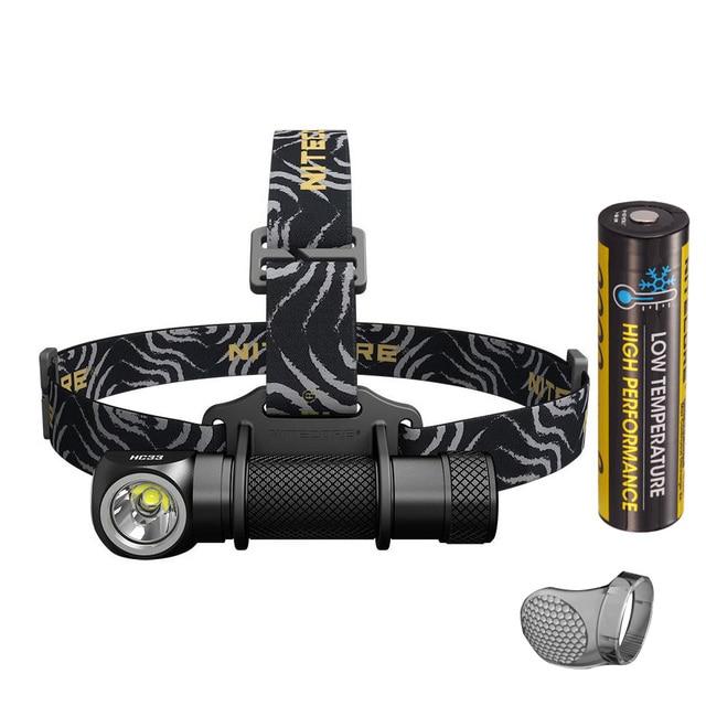 Nitecore HC33 Đèn Pha XHP35 HD LED Max 1800 Lumen Thể Thao Ngoài Trời Đầu Đèn Chùm Ném 187 Mét 8 Chế Độ Làm Việc ánh Sáng