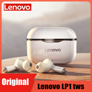 Lenovo LP1 TWS Wireless Earphone Bluetooth 5.0 Dual Stereo Noise Reduction Bass Touch Control Long Standby