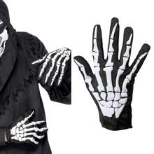 New Halloween Horror Skull Claw Bone Skeleton Goth Racing Full Gloves Cycling Hiking Equipment outdoor Glove or men