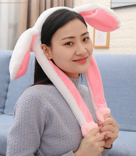 Cute Rabbit Easter Accessories Easter Gift Rabbit Ear Hat Headband Cute Cap Moving Fancy Dress Costume Hat