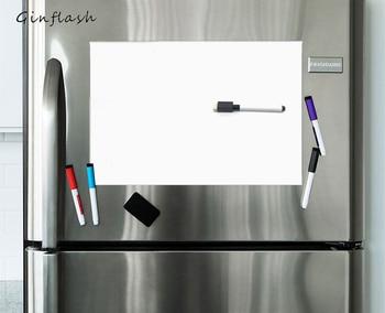 A3/A4/A5 Soft Fridge Flexible Pet Light Whiteboard Message Board Magnetic Notes Refrigerator  Waterproof 1marker&2button