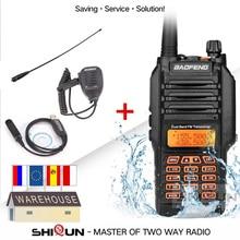 Baofeng UV 9R سماعة الصوتية IP67 مقاوم للماء UHF VHF 136 174/400 520MHz لحم الخنزير راديو 10 كجم Baofeng 8 واط اسلكية تخاطب 10 كجم UV 9R