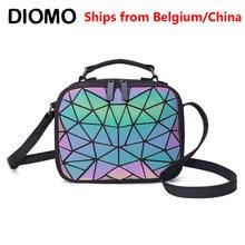 DIOMO 2020 dames petit sac à bandoulière géométrique sac à main sacs à bandoulière pour les femmes lumineux carré étudiant adolescente Laser sac