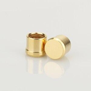 Image 1 - 16 pièces plaqué or RCA bouchon prise de court Circuit connecteur Phono RCA blindage prise jack protéger caches