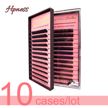 Eye Lash Extension Individual Eyelash Silk Mink Lashes 10 Trays/Lot Classic Soft All Sizes HPNESS