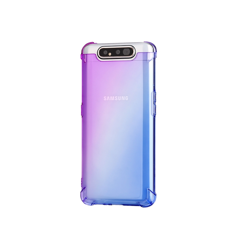Shockproof Gradient Color TPU Case For <font><b>Samsung</b></font> Galaxy A80 Transparent Cover Soft <font><b>Fundas</b></font> For <font><b>Samsung</b></font> Galaxy <font><b>A10</b></font> A20 A30 A40 A50 image