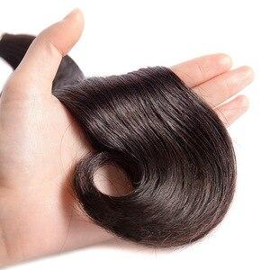 Image 4 - 1/3/4 vücut dalga saç demetleri brezilyalı MS Lula ücretsiz kargo atkı insan olmayan Remy saç demetleri uzatma 30 32 34 36 38 40 inç
