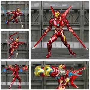 "Image 1 - Iron Man MK50 6"" Action Figure Avenger Ironman Nano Mark 50 Infinity War Tony Stark Legends KOs SHF Endgame Toys Doll Model"