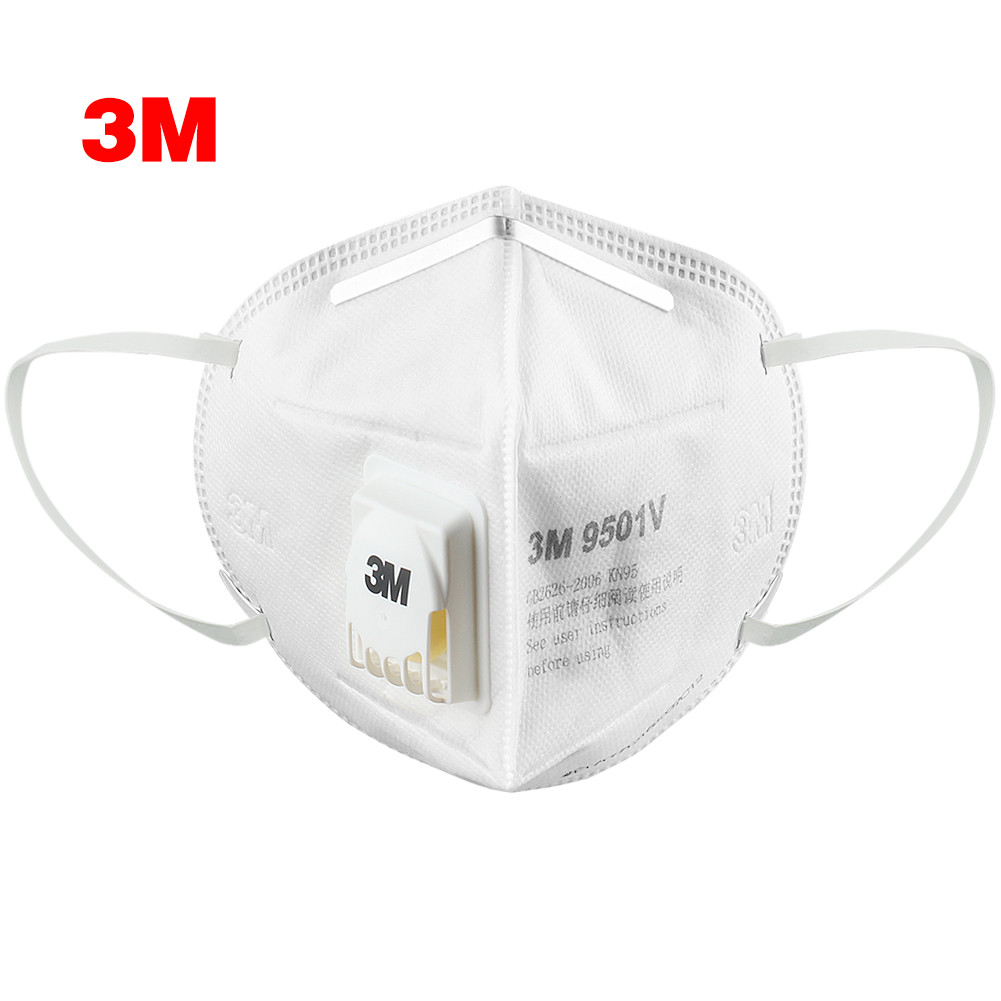 3M Mask 9501V Mask Anti Dust Masks KN95 Masks Anti-haze Riding Protective Masks Anti-particles Filter Material Dust Mask