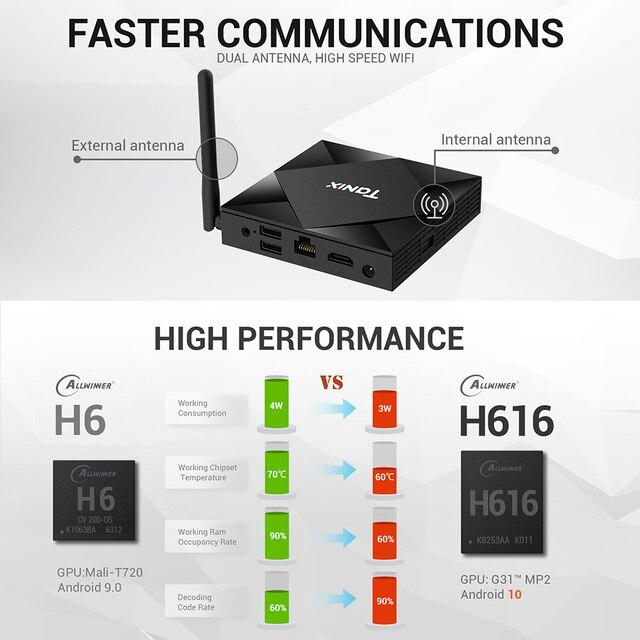 Tanix TX6S Android 10.0 Smart TV BOX 4GB RAM 32GB 64GB Allwinner H616 Quad Core TVBox H.265 4K Media player 2GB 8GB pk Tanix TX6 3