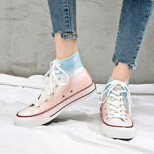Women's fashion canvas shoes high-top casual shoes