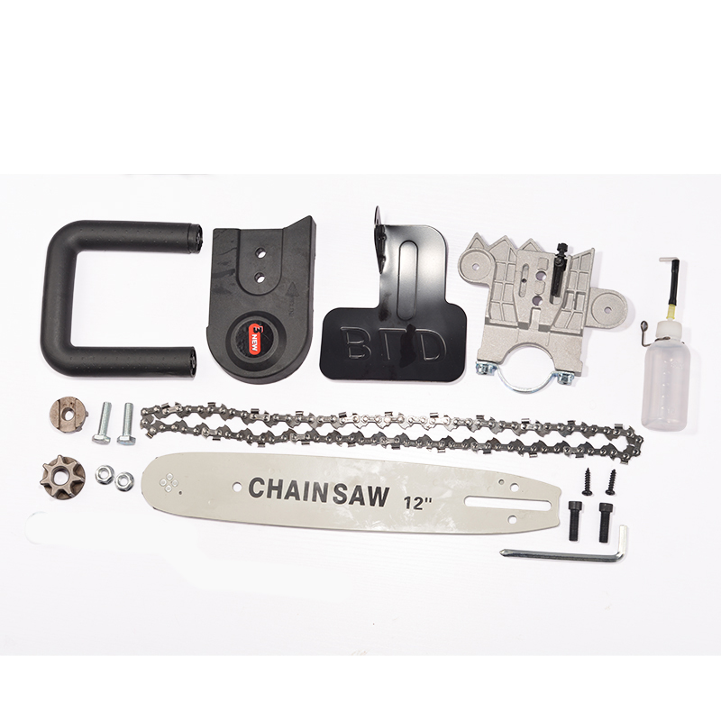 Image 5 - 11.5/12 Inch Chainsaw Bracket Changed 100 125 150 Electric Angle Grinder M10/M14/M16 Into Chain Saw Woodworking Power Tool Set-in Electric Saws from Tools on