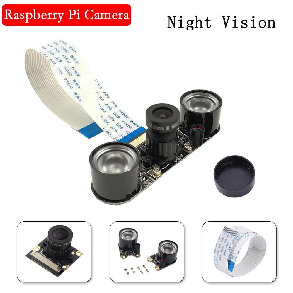 Raspberry Pi 3 Night Vision Camera 5MP Focal Adjustable Video Camera For Raspberry Pi 4 3 Model B 3B 3 B+ Plus