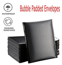 50Pcs Black Poly Bubble Mailer Bubble Mailers Padded Envelopes for Gift Packaging Lined Poly Mailer Self Seal 13 x 18cm Bag cheap ISHOWTIENDA CN(Origin) Mailer Self Seal Pink Window Envelope Pearl film Gift Envelope Foam Envelope Bags Self Seal Mailers Padded