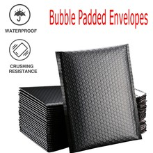 Padded-Envelopes Packaging-Lined Bubble-Mailer Self-Seal Gift Poly Black 50pcs for 13x18cm-Bag