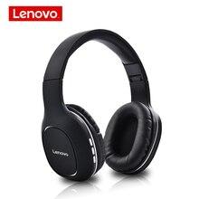 Lenovo HD300 kablosuz Bluetooth kulaklık katlanabilir Hifi 3D derin bas kulaklık ile mikrofon oyun kulaklığı mobil PC için