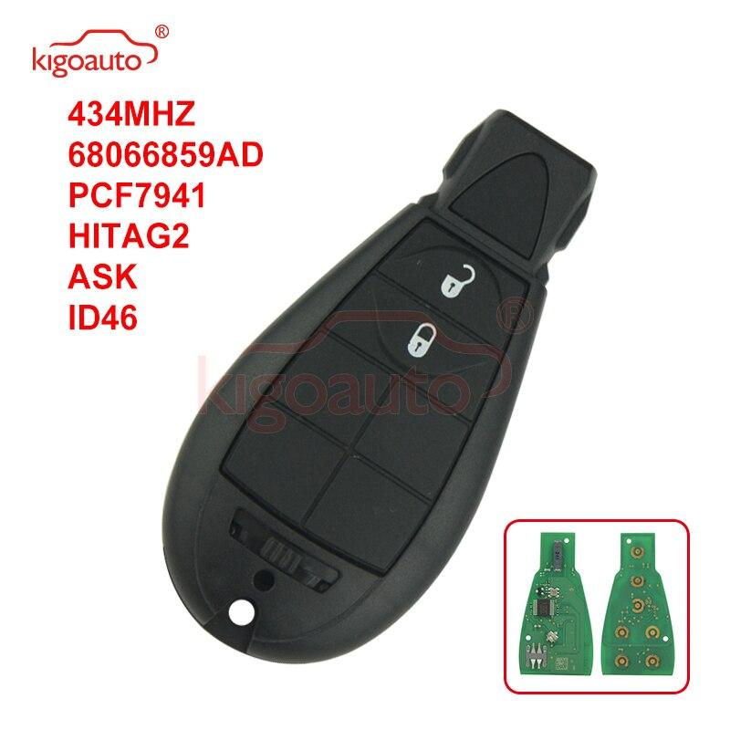 Kigoauto #0 68066859AD Caliber,Journey,Grand Cherokee,Voyager Fobik key 2 button 434Mhz for Chrysler European model No panic