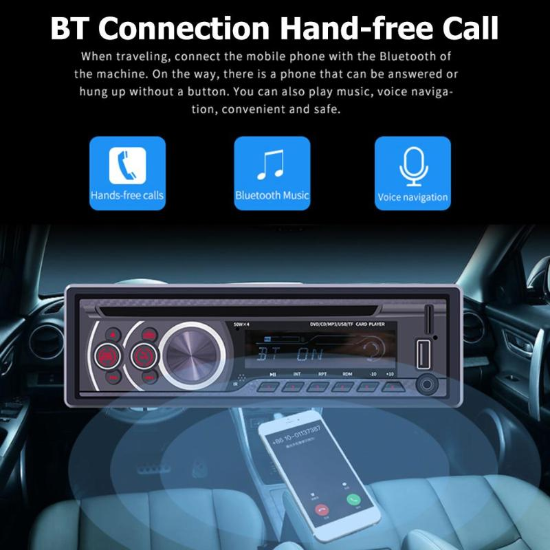 ALLOYSEED 8169A 1 Din Bluetooth автомобильный стерео MP3-плеер 1din Авторадио CD VCD DVD AUX USB FM радио Авто Аудио Автомобильный плеер головное устройство